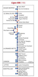 Horaire Bus Ligne 606 d'Octobre 2019 à Mai 2020