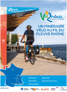 Carte - itinéraire de la Via Rhona